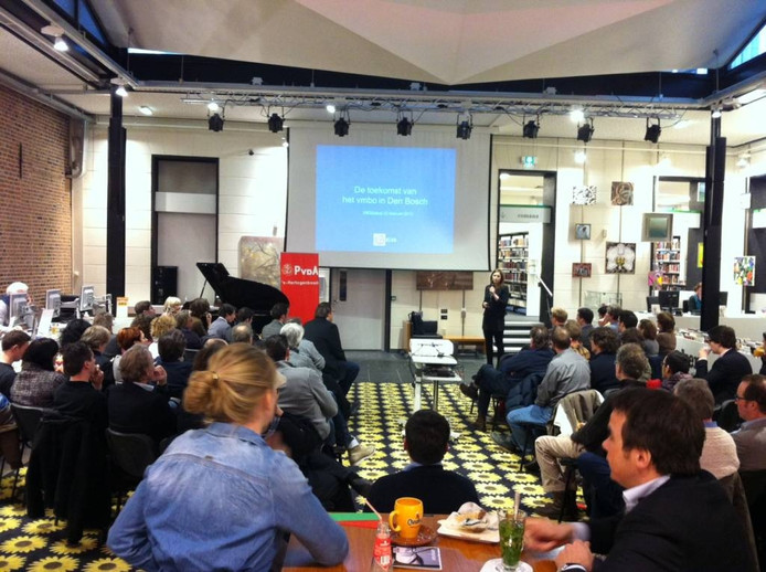Het Biebdebat over het vmbo in Den Bosch werd goedbezocht.