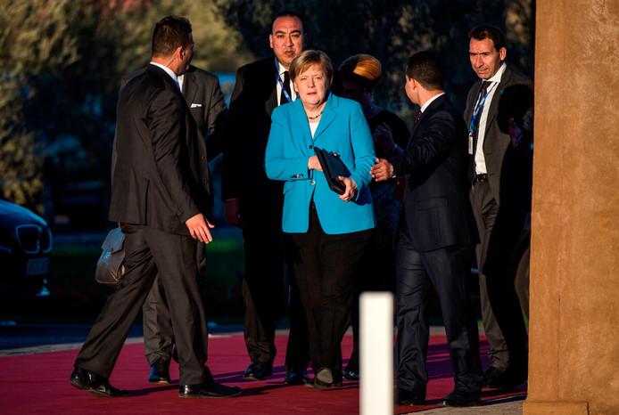De Duitse bondskanselier Angela Merkel verdedigde het pact tijdens een vlammende speech vol vuur.