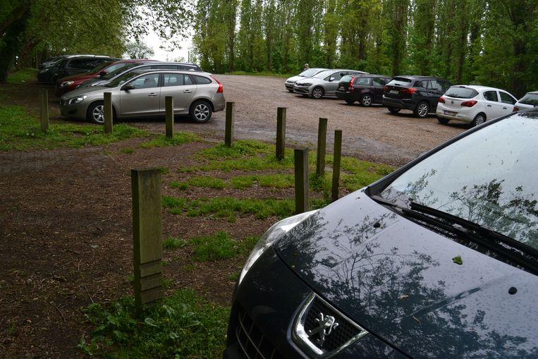 Parking achter Mariahal in Scherpenheuvel.