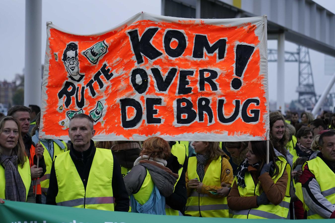Het lerarenprotest in Rotterdam