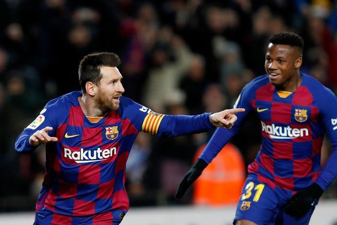Lionel Messi et Ansu Fati.