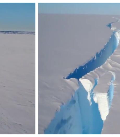 Grote ijsberg op Zuidpool staat op afbreken