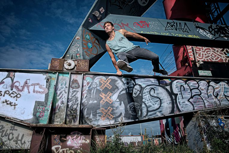 Freerunner Gaetano Carretto.  Beeld Ingrid van Heteren/fotostudio Enjoy