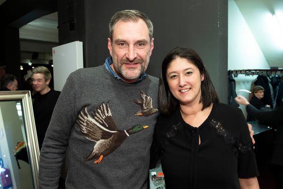 Peter Van De Velde en zijn vriendin Debbie.