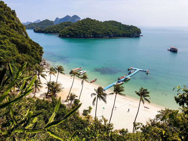 De stranden van Ang Thong National Marine Park. Beeld null