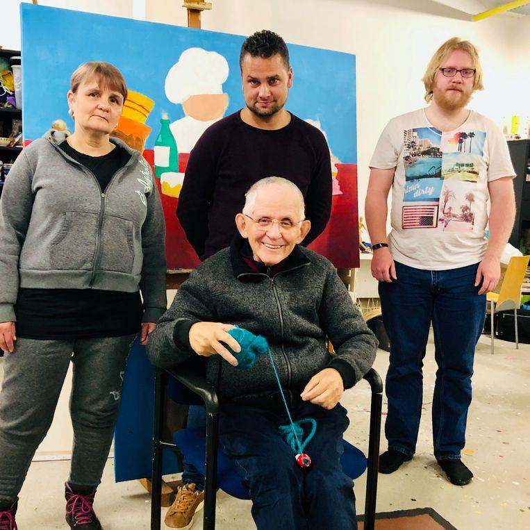Met de klok mee: Sylvia, Jordi, Tijmen en Jan. Beeld