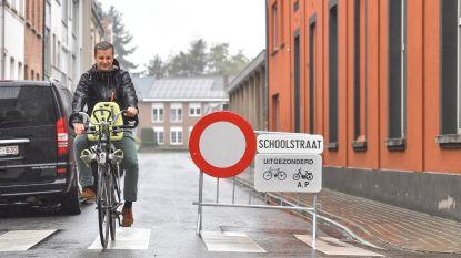 School- en fietsstraat in stadscentrum