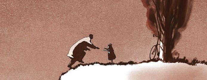 Uit de film Vader en Dochter van Michael Dudok de Wit