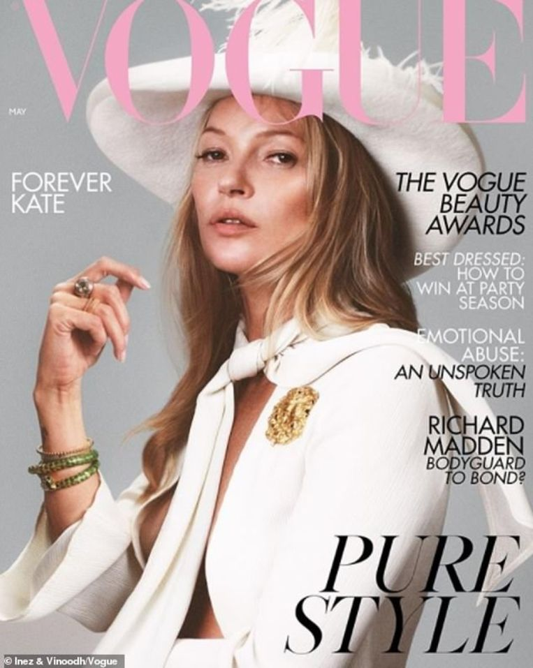 Kate Moss 40 ste cover vogua