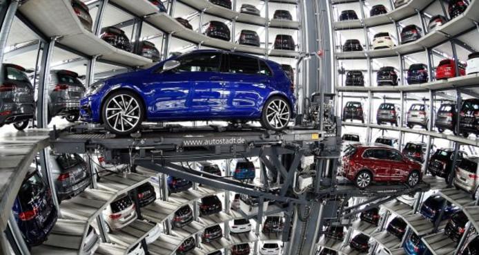Een auto-opslagplaats in het Duitse Autostadt.