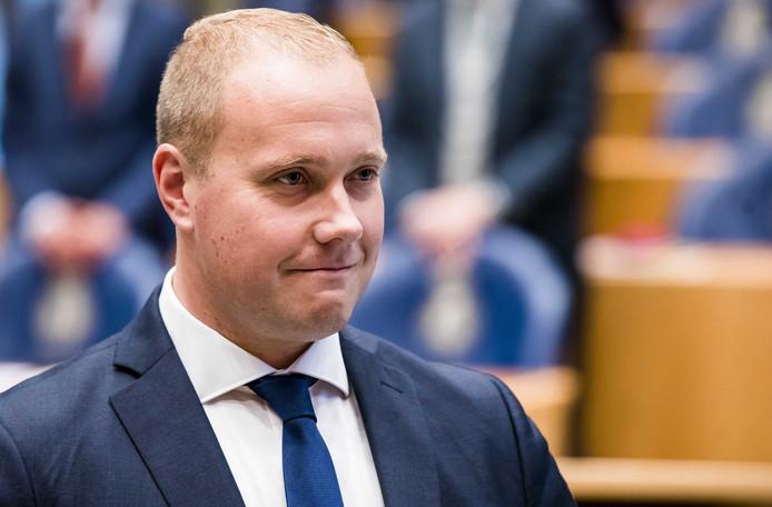 Thierry Aartsen werd vanmiddag als Kamerlid voor VVD beëdigd in de Tweede Kamer