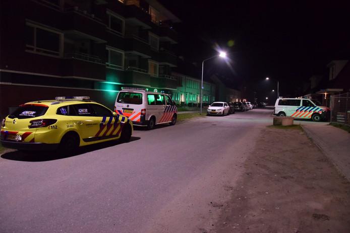 De hulpdiensten vonden de zwaargewonde vrouw bij de Aquamarijn in Zevenbergen.