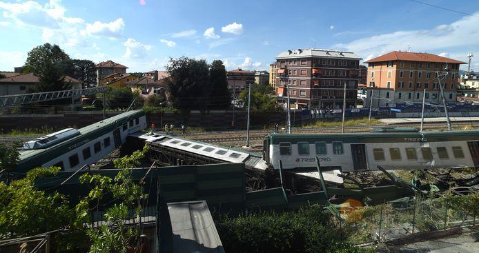 De trein ontspoorde na 7 kilometer.