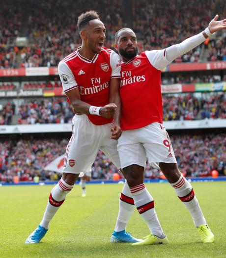 Lacazette et Aubameyang portent Arsenal