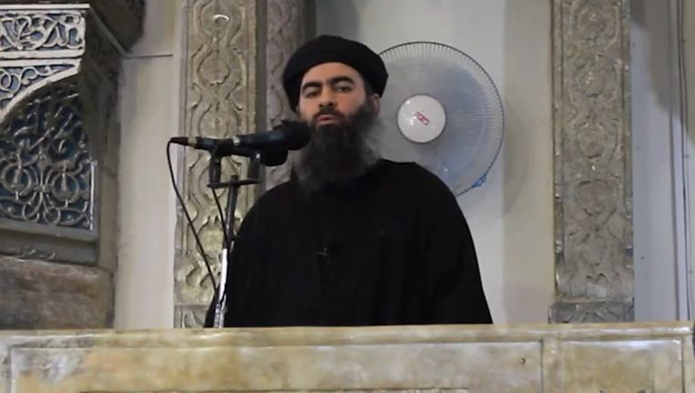 Archiefbeeld van Abu Bakr al-Baghdadi.