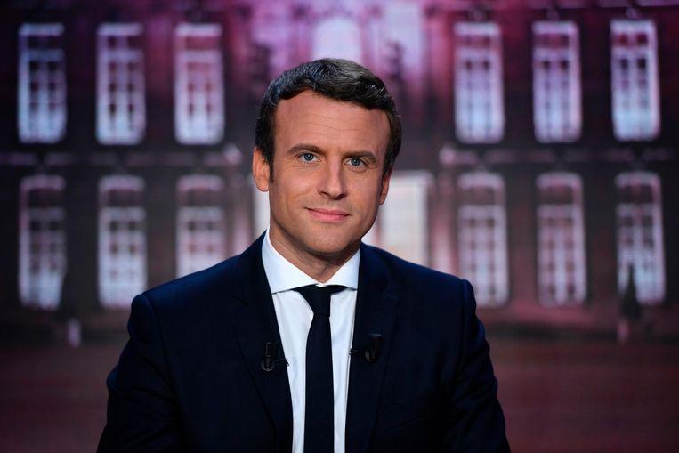 Macron deed een máximaatje... Beeld afp