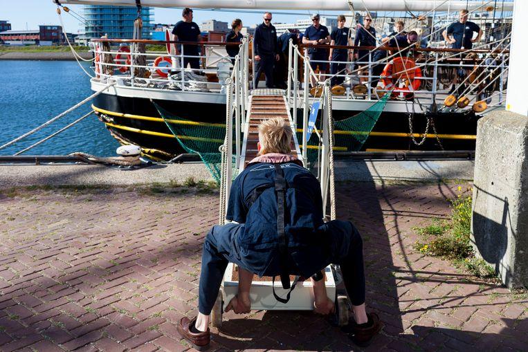 Klaar voor vertrek naar Texel in plaats van Sail. Beeld Renate Beense