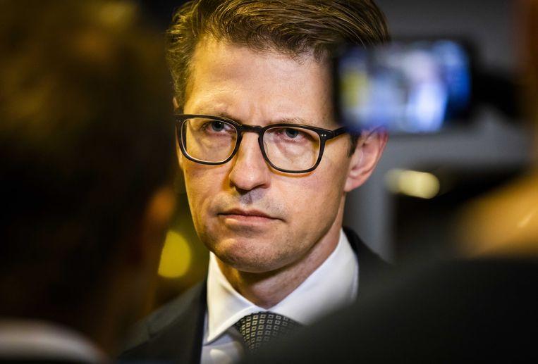 Minister Sander Dekker voor Rechtsbescherming reageert op het rapport van de Onderzoeksraad voor Veiligheid over forensische zorg en de zaak-Michael P. Hij is veroordeeld voor het doden, verkrachten en ontvoeren van Anne Faber.  Beeld ANP