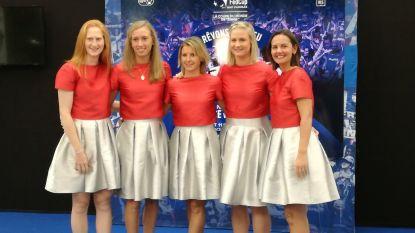 Elise Mertens en collega's pralen piekfijn op galadiner Fed Cup