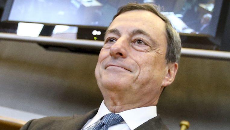 Mario Draghi van de Europese Centrale Bank. Beeld epa