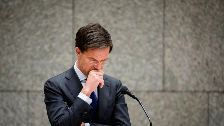 Premier Mark Rutte in de Tweede Kamer. Beeld null