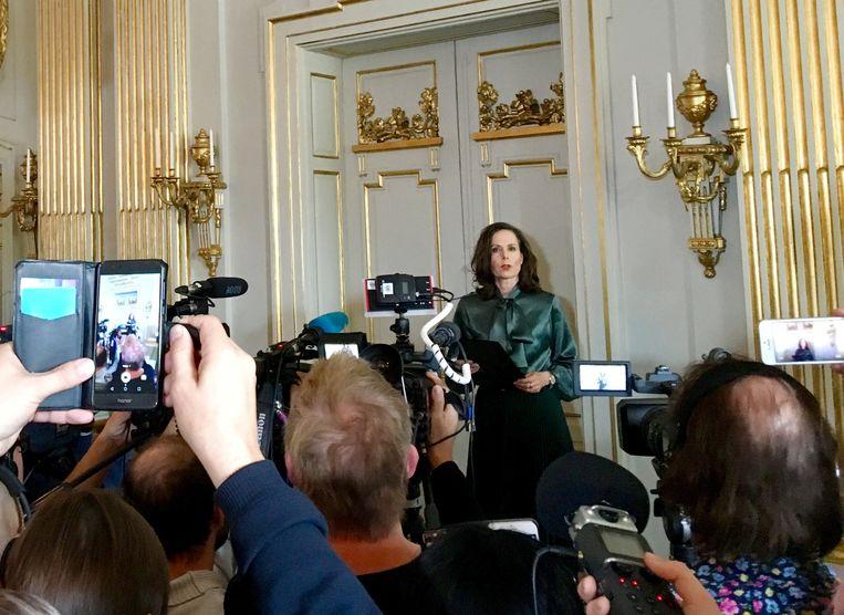 De bekendmaking van de Nobelprijs voor Literatuur in Stockholm, vorig jaar. Beeld null