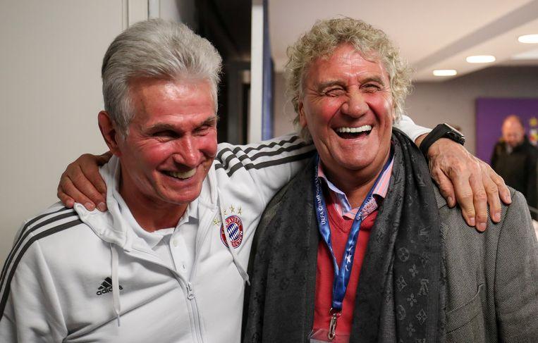 Bayern-coach Jupp Heynckes met Jean-Marie Pfaff.
