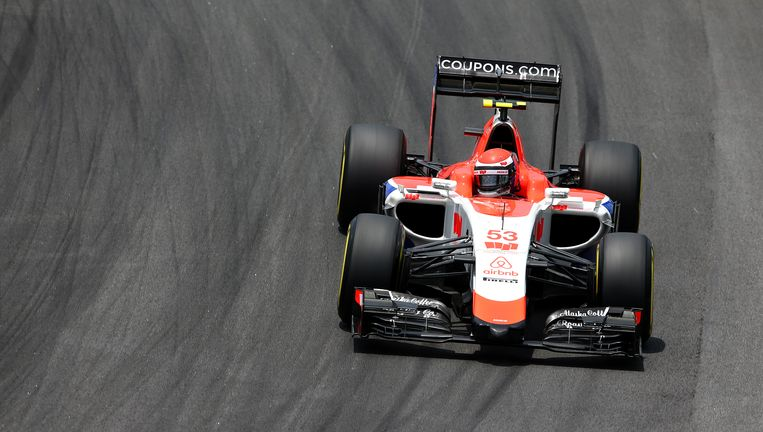 Een auto van Manor tijdens het vorige Formule 1-seizoen. Beeld getty
