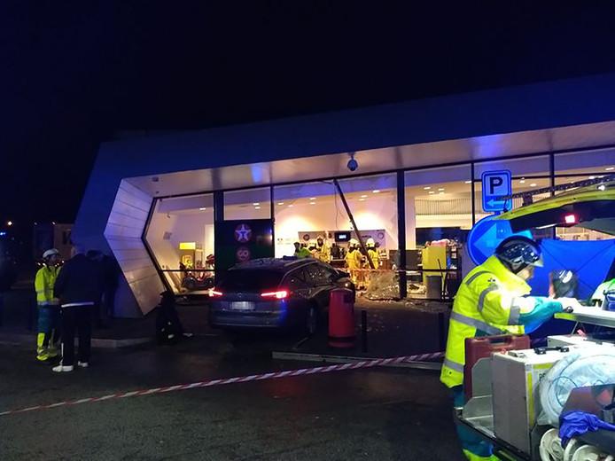 Ongeluk bij tankstation Belgie