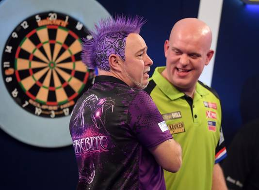Peter Wright en Michael van Gerwen.