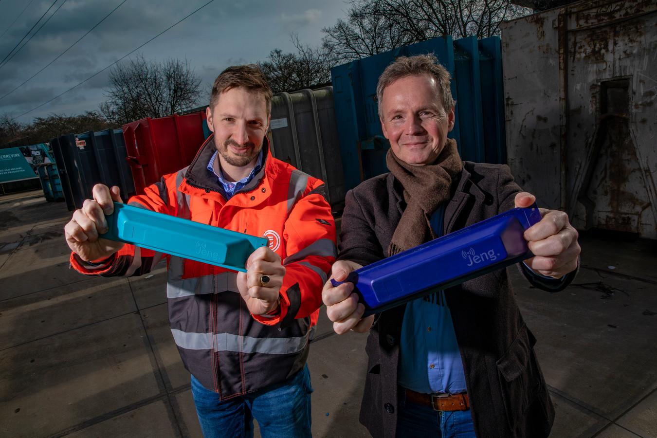 Marc van Gerrevink (links) en Jeroen van Bussel namen het initiatief om een track & trace voor containers te ontwikkelen.