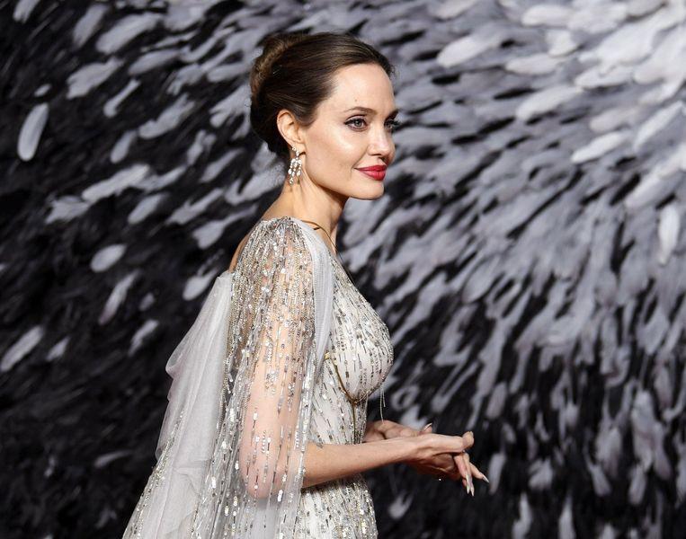 Angelina Jolie tijdens de première van 'Maleficent: Mistress Of Evil'.