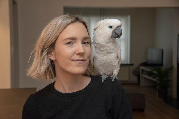 Grietje Vermoortele en Marni de kaketoe.