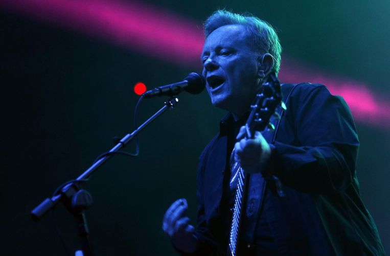 Bernard Sumner, zanger van de Britse band New Order Beeld ANP
