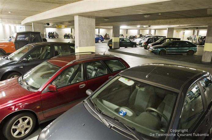 De parkeerkelder onder het Europaplein in Rijssen