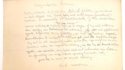 2 brieven van kunstenaar Rik Wouters onder de hamer, geen interesse vanuit Mechelen