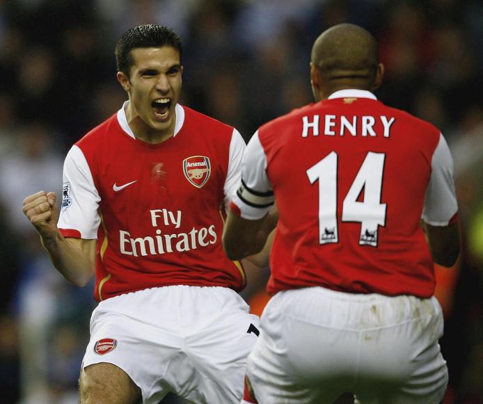 Robin van Persie en Thierry Henry.