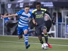 Wervelend PEC Zwolle in blessuretijd onderuit tegen PSV