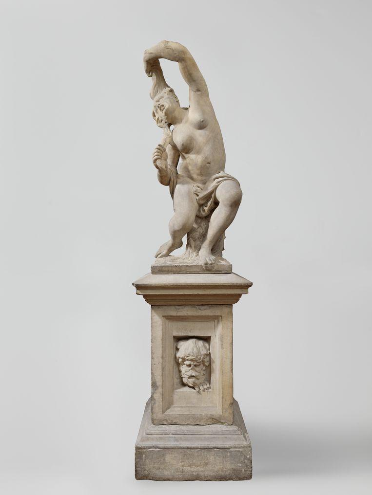 Het beeld De Razernij van Artus Quellinus stond vroeger in de tuin van het Dolhuys in Amsterdam.  Beeld