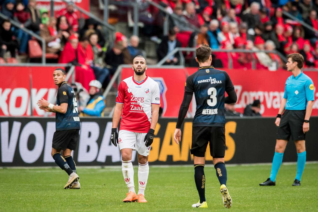 Oussama Tannane in zijn laatste wedstrijd voor FC Utrecht.