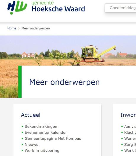 Nieuwe website gemeente Hoeksche Waard is in de lucht