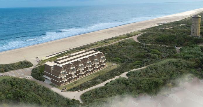 Artist Impression van het nieuwe hotel Zonneduin