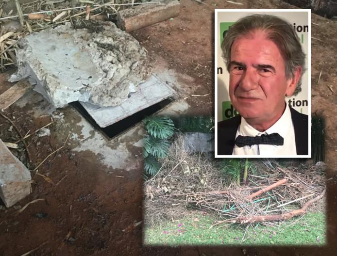 De plek waar het lichaam van Cohen lag, was afgedekt met stuk beton en tuinafval.