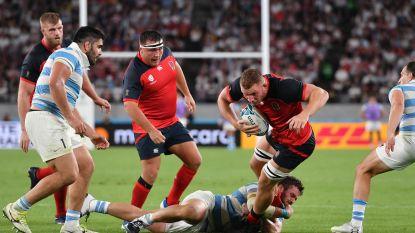 Engeland stoot als eerste door naar kwartfinales op het WK rugby