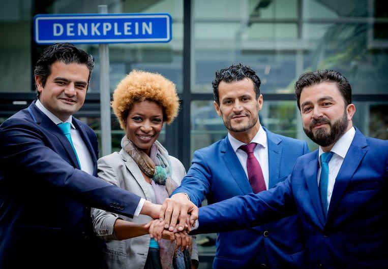 Sylvana Simons vormde samen met Tunahan Kuzu, Farid Azarkan en Selcuk Ozturk de partij Denk. Beeld anp