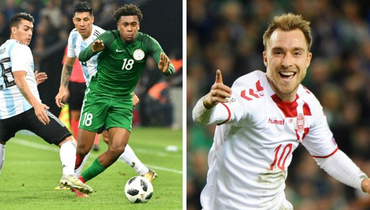 Links: Alex Iwobi. Rechts: Christian Eriksen.