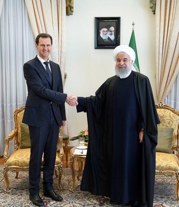 Assad met de Iraanse president Hassan Rohani.