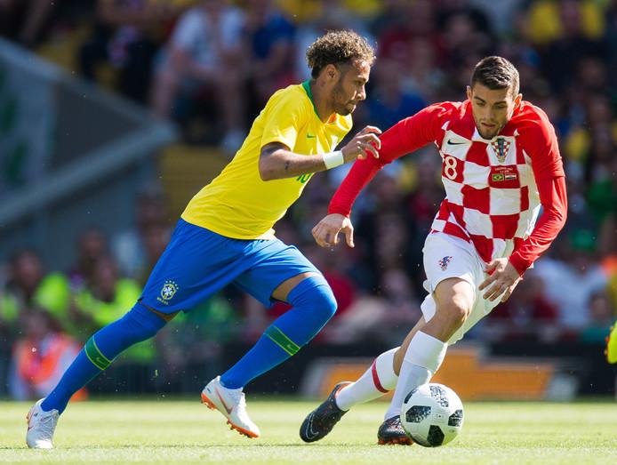 Mateo Kovacic (r) gaat met Kroatië naar het WK.