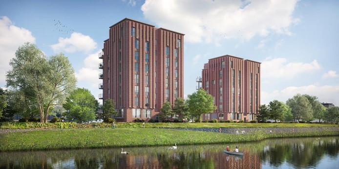 Vandaag is de bouw van de eerste van twee woontorens van het Mooi Vechte project officieel begonnen.