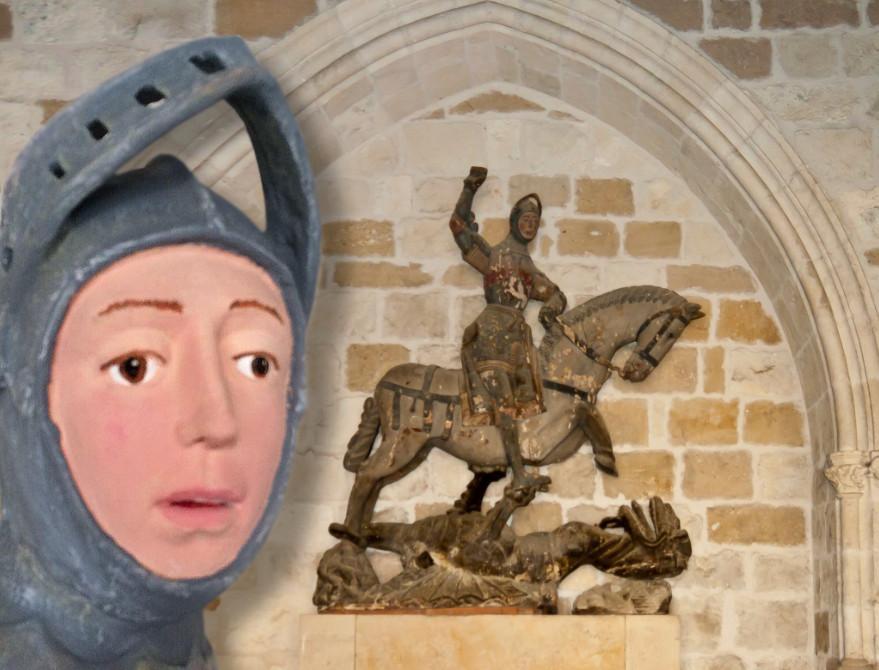 De eeuwen hadden op Sint Joris minder invloed dan de kwast van de restaurateur.